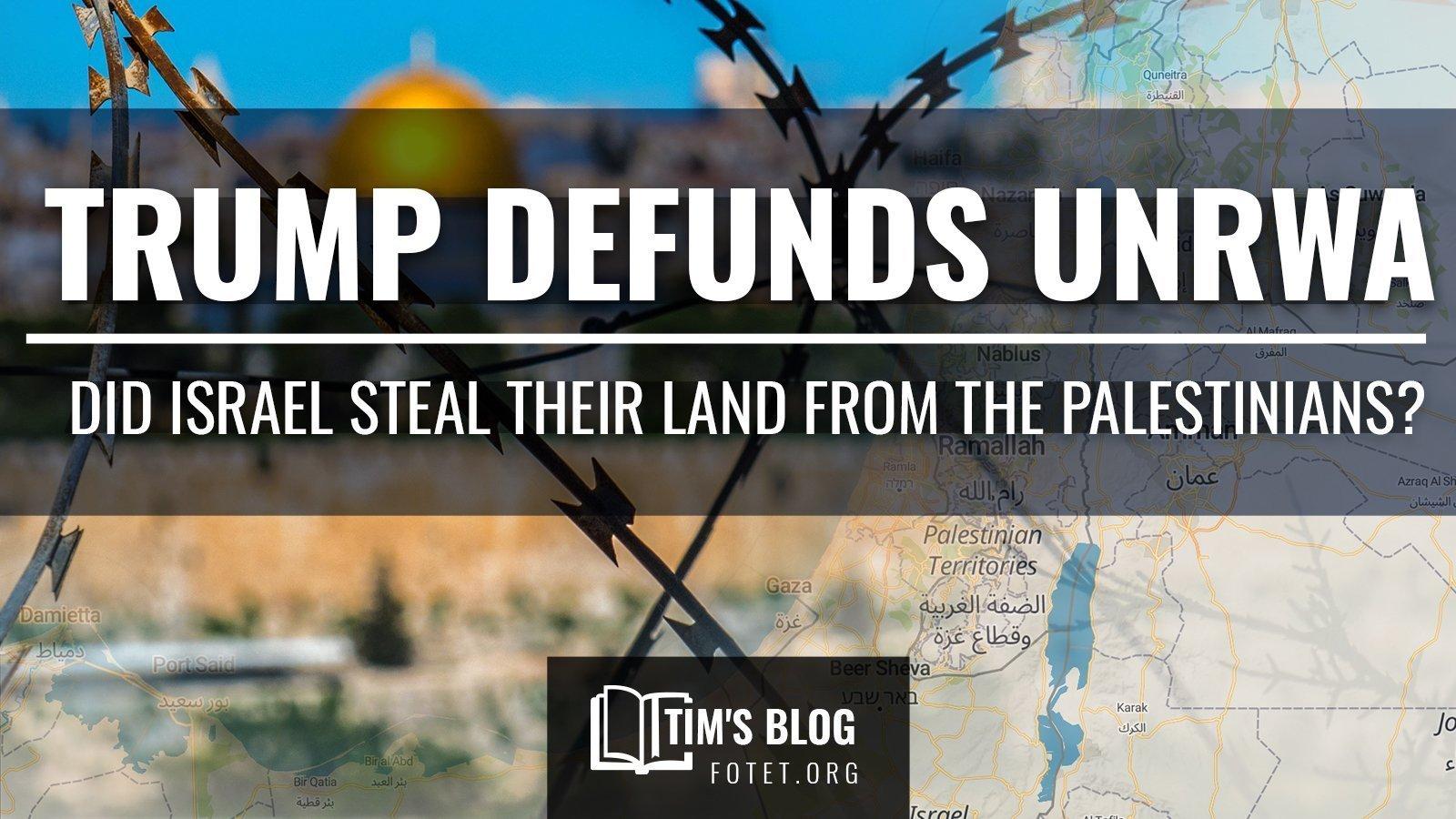 Trump Defunds UNRWA