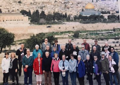 On the Mt. of Olives overlooking the Temple Mount.