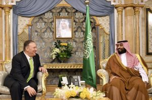 Mike Pompeo Meets with Saudi Arabian Crown Prince